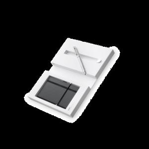 Lamy Logo Brushed Steel Multifunction Pen1 Pen & Notepad Set -0