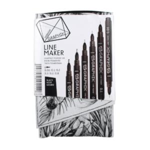 Black Line Maker 6 Pen Set