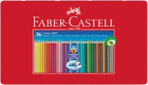 Faber-Castell Playing & Learning 36 GRIP 2001 Colour Pencils Tin -0