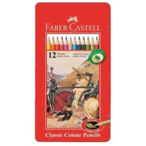 Faber-Castell Playing & Learning 12 Classic Colouring Pencils Tin -0