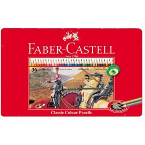 Faber-Castell Playing & Learning 36 Classic Colouring Pencils Tin-0