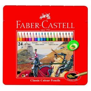 Faber-Castell Playing & Learning 24 Classic Colouring Pencils Tin -0