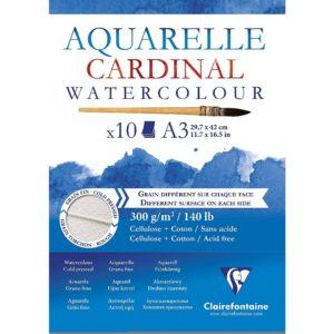 Clairefontaine Aquarelle Cardinal Watercolour Pads-0