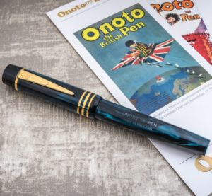 Onoto Magna Classic Blue Pearl & Gold Fittings fountain pen-0
