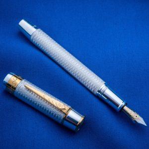 Onoto William Shakespeare Sterling Silver Fountain Pen-0
