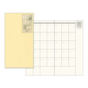 Travelers Notebook Regular Size Free Diary - Monthly