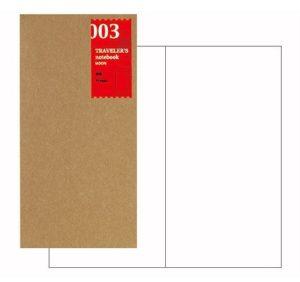 Travelers Notebook Regular Size - Plain refill-0