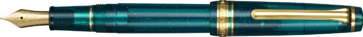 nebula blue green fountain pen